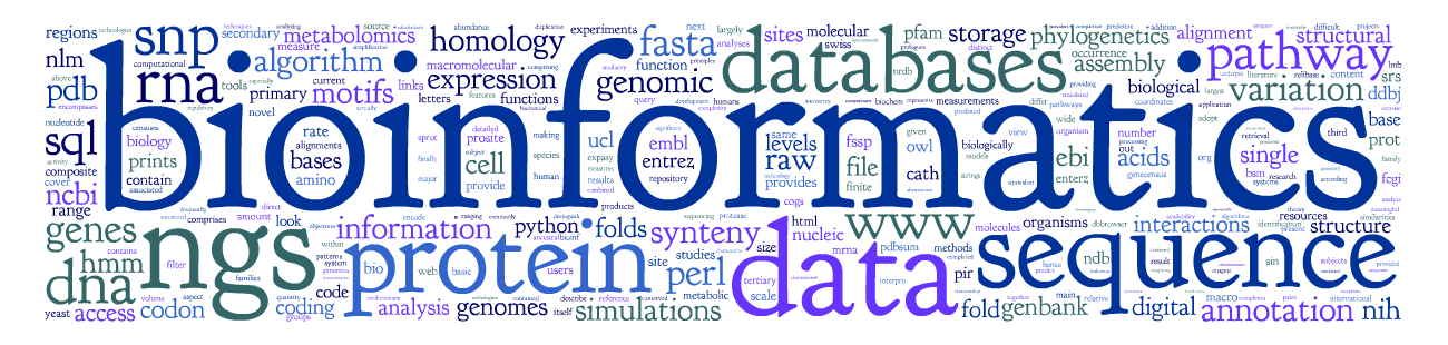 bioinformatics word logo